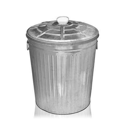 Søppelstativ i stål H:60cm 70ltr 1 / 1
