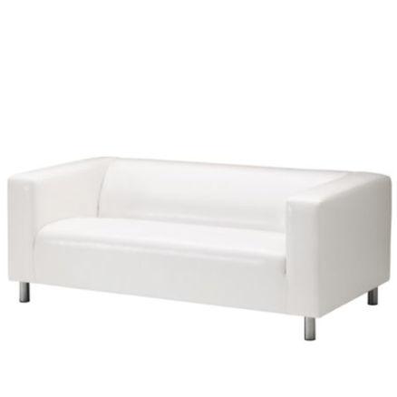 Sofa 2-seter hvit, 180x88cm 1 / 1