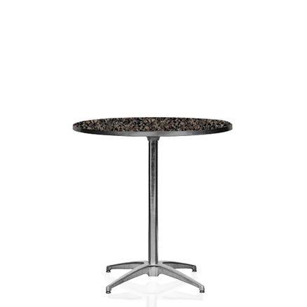 Cafébord, laminat 4 pers. D:76cm H:73cm 1 / 2