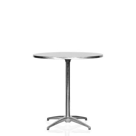 Cafébord, stål 4pers. D:76cm H:73cm 1 / 1