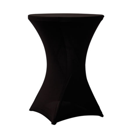 Stretchduk til cocktailbord, sort. <b>D:80</b>cm 1 / 1