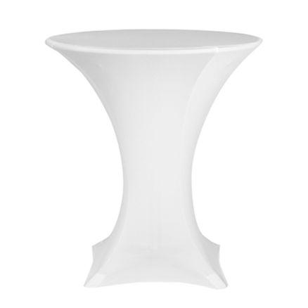 Stretchduk til cocktailbord, hvit. <b>D:80</b>cm 1 / 1